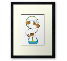 Puppy on Scale Framed Print