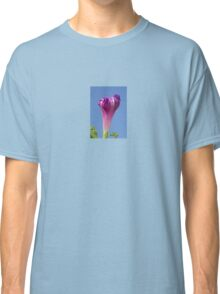 Deep Magenta Morning Glory Flower Bud Against Sky Classic T-Shirt