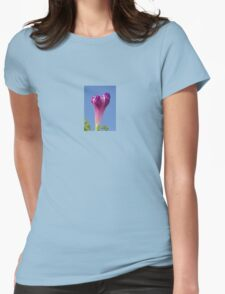 Deep Magenta Morning Glory Flower Bud Against Sky T-Shirt