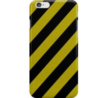 Yellow and Black Stripes  iPhone Case/Skin