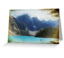 Lake Moraine textured version Greeting Card
