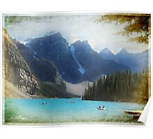 Lake Moraine textured version Poster