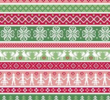 Multi Color Nordic Christmas Sweater Pattern by sale