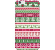 Multi Color Nordic Christmas Sweater Pattern iPhone Case/Skin