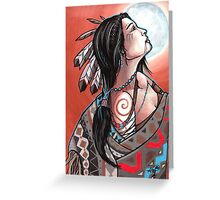 native moon maiden Greeting Card
