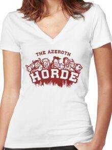 Team Horde  Women's Fitted V-Neck T-Shirt