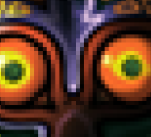 Majora's Mask Pixelation Sticker
