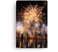 Fireworks on the Lagoon Canvas Print