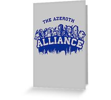 Team Alliance Greeting Card