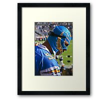 Chargers  Football Fan!! Framed Print