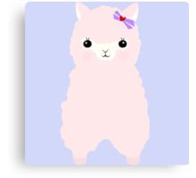 Alpaca in love Canvas Print