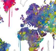 World Map Watercolor Sticker