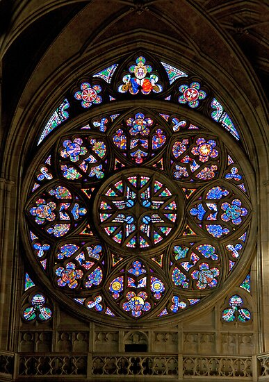 St. Vitus Rose Window Stained Glass by phil decocco