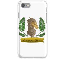clever raptor girl iPhone Case/Skin
