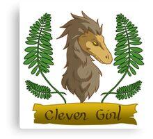 clever raptor girl Canvas Print