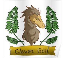 clever raptor girl Poster