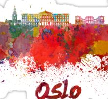 Oslo skyline in watercolor Sticker