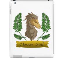 clever raptor girl iPad Case/Skin