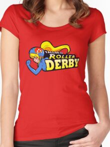 Tallon IV roller derby Women's Fitted Scoop T-Shirt