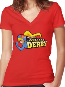 Tallon IV roller derby Women's Fitted V-Neck T-Shirt