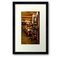 Low Light Ristorante Framed Print