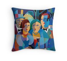 NIGHT ON THE TOWN Throw Pillow