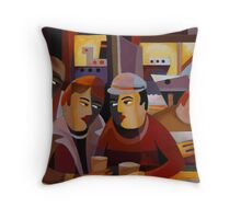 BACK IN PORT Throw Pillow
