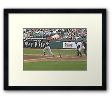The Bat is Still Standing Where He Released it! Framed Print