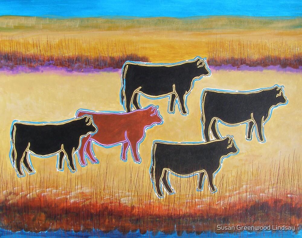 Red Angus by Susan Greenwood Lindsay