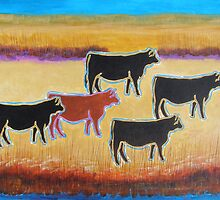 Red Angus by Susan Greenwood Lindsay