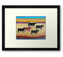 Red Angus Framed Print