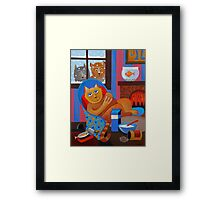 WHAT CATS ? Framed Print