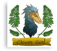 blue clever girl Canvas Print