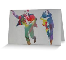 Technicolour Butch and Sundance Greeting Card