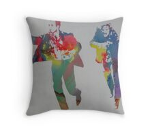 Technicolour Butch and Sundance Throw Pillow