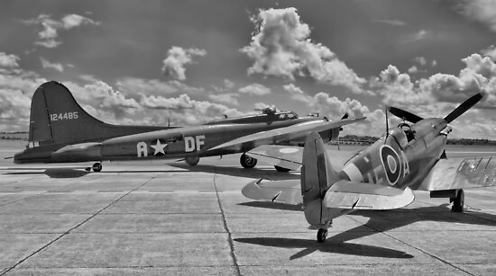 """""""Sally B"""" and Spitfire - Duxford Flying Legends 2012 by Colin  Williams Photography"""