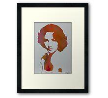 Technicolour Elizabeth Taylor Framed Print