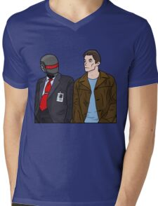 Daft Bunk Mens V-Neck T-Shirt