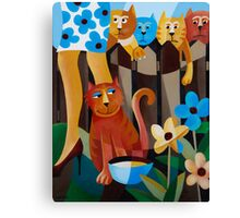 THE CAT THAT GOT THE CREAM Canvas Print