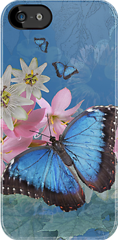Morpho Magic iPhone / iPod Case by Krys Bailey