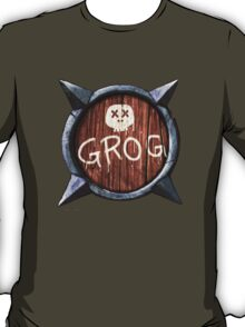 Spiked Shield with Grog and Skull Logo AAARG! T-Shirt
