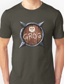 Spiked Shield with Grog and Skull Logo AAARG! Unisex T-Shirt