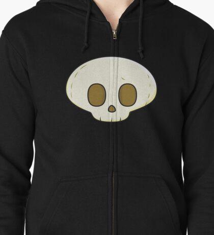Skull Zipped Hoodie