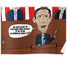 caricature d'Obama addresser le Congres Poster