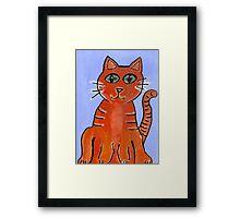 Friendly Cat Framed Print