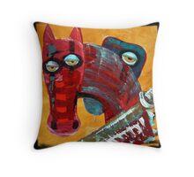 War - The Red horse Throw Pillow