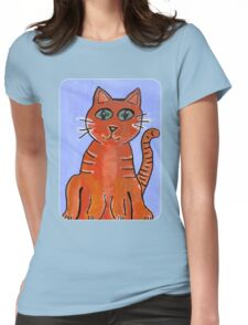 Friendly Cat Womens Fitted T-Shirt