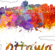 Ottawa skyline in watercolor Sticker