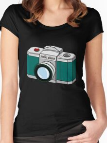Smile, please! Women's Fitted Scoop T-Shirt