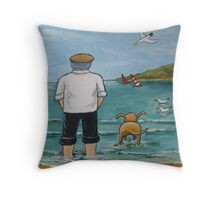 Doggy Paddle Throw Pillow